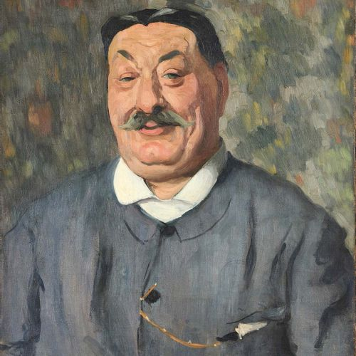 LOUIS ANQUETIN (1861 1932) Portrait d'homme Huile sur toile, signée en bas à gau…