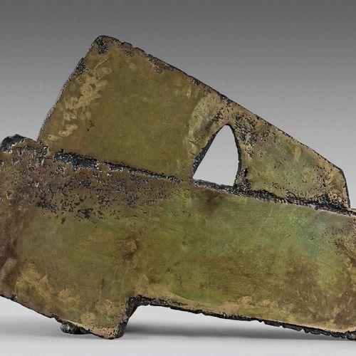 Pierre SOULAGES (né en 1919) Bronze, n°2, 1976 Épreuve en bronze patiné et doré,…