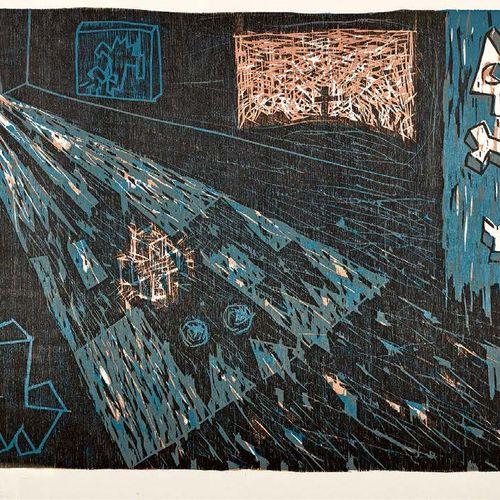 Speedy Graphito L'Apparition, 1986, gravure sur bois, 39,5 x 54,5 cm, marges 50 …