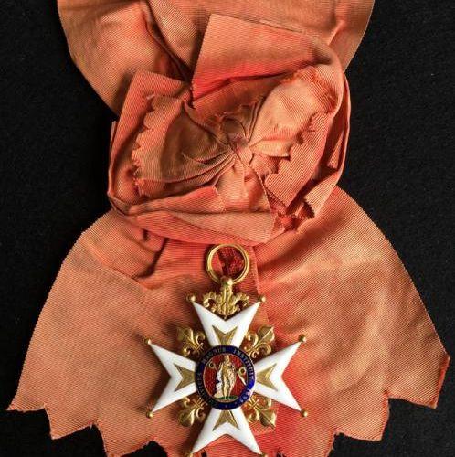 Ordre de Saint Louis, Restauration, bijou de grand croix en or émaillé à huit po…