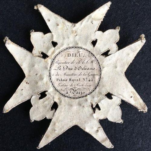 Ordre de Saint Louis, Restauration, plaque de grand croix en broderie de fil de …