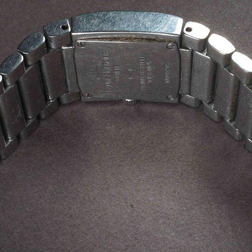 BAUME ET MERCIER Montre dame boîtier et bracelet acier. Réf. MV045219.Format car…