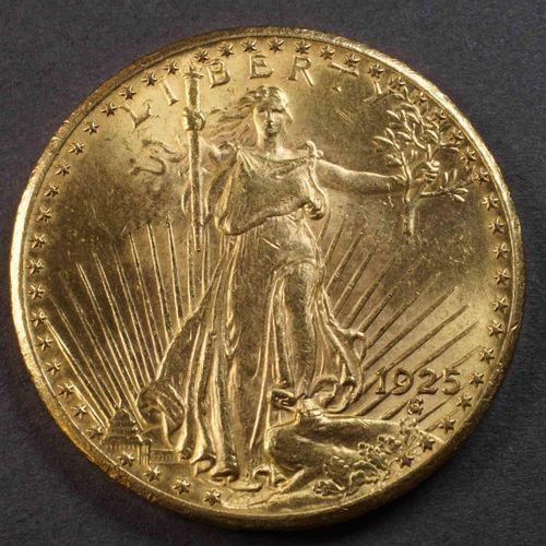 Pièce de 20 US $ or 900°/°°° Liberty 1925. Poids : 33,42 g. Lieu de dépôt : MAGA…