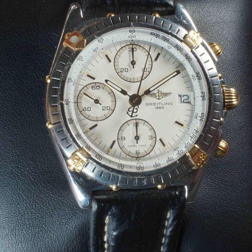 BREITLING. Chronomat homme réf. B13048 années 1990, numéroté 1 25112. Boîtier ac…