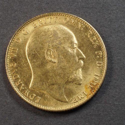 Souverain or 900°/°°° Edouard VII 1903. Poids : 7,89 g. Lieu de dépôt : MAGASIN …