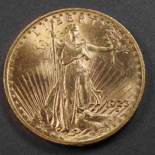 Pièce de 20 US $ or 900°/°°° Liberty 1923. Poids : 33,40 g. Lieu de dépôt : MAGA…