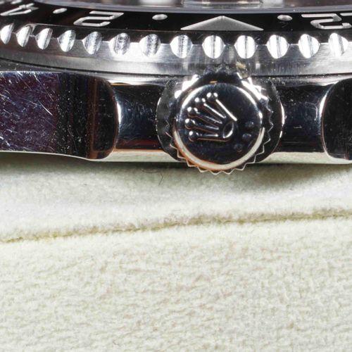 ROLEX GMT MASTER II. Réf. 116710LN.Années 2000. Boîtier acier 40 mm, Lunette tou…