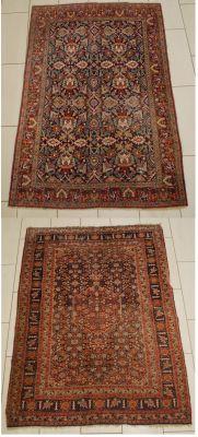 Travail perse. Tapis Mahal (lot de deux).  Dim.: 190 x 138 et 190 x 135 cm.