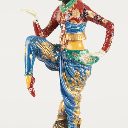 Rosenthal. Sculpture en porcelaine polychrome: Danseuse Anita Berber dans son rô…