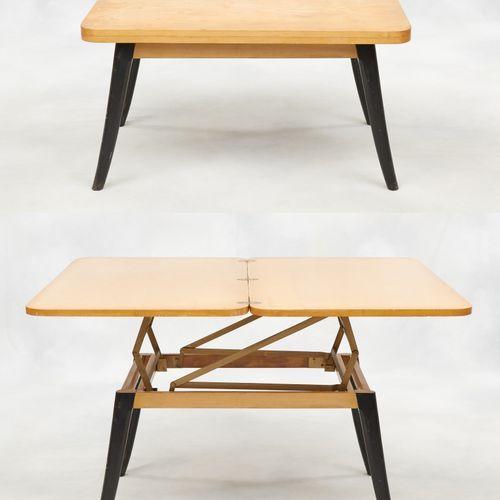 """Design Albert Ducrot, années '50. Meuble: Table, modèle """"Révélation"""", modulable …"""
