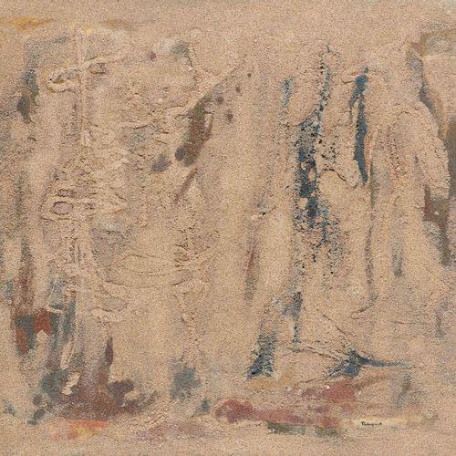 Suzanne THIENPONT École belge (1905 2003) Technique mixte, huile et sable sur pa…