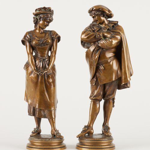 Léopold HARZE École belge (1831 1893) Sculptures en bronze à patine médaille (lo…