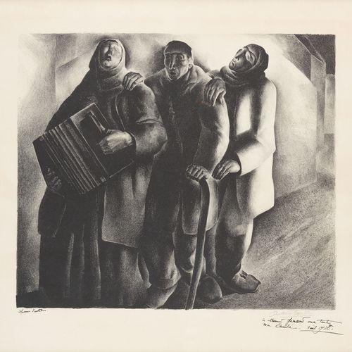 Anto CARTE École belge (1886 1954) Estampe, lithographie en noir et blanc sur pa…