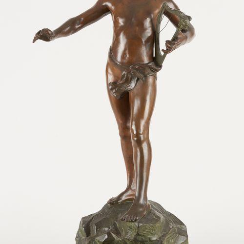 Frans JORIS École belge (1851 1914) Sculpture en bronze à patine nuancée: Orphée…