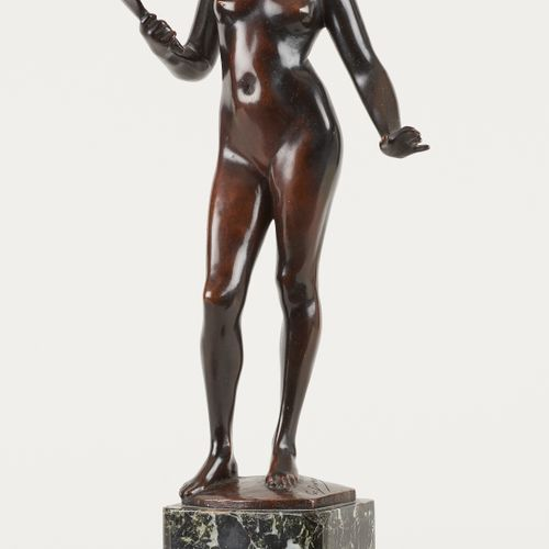Godefroid DEVREESE École belge (1861 1941) Sculpture en bronze à patine brune: V…