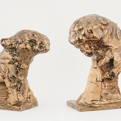 Patrick VILLAS École belge (1961) Sculptures en céramique vernissée (lot de deux…