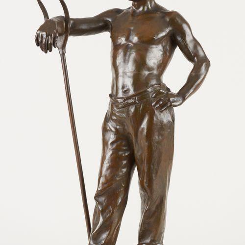 Godefroid DEVREESE École belge (1861 1941) Sculpture en bronze à patine brune: L…