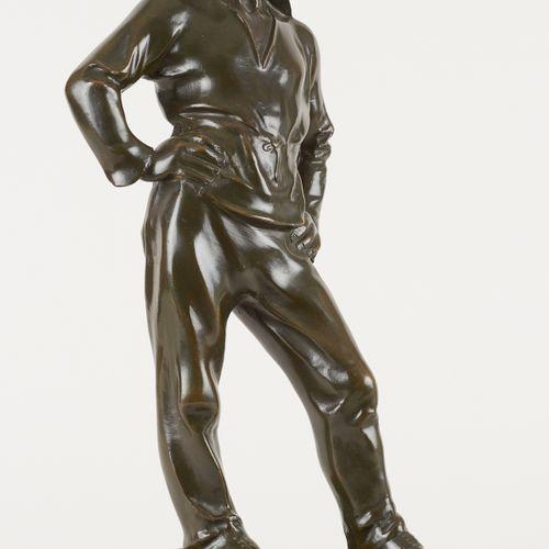 Constantin Émile MEUNIER École belge (1831 1905) Sculpture en bronze à patine ve…