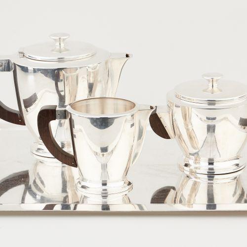 Gersyl, d'époque Art déco. Argenterie: Service à thé en métal argenté, se compos…