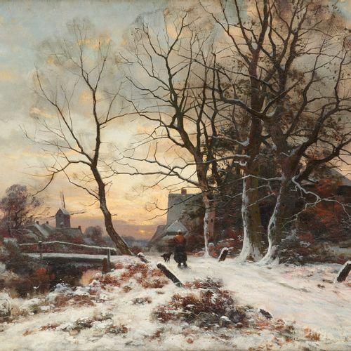 Ferdinand DE PRINS École belge (1859 1908) Huile sur toile: Retour au village da…