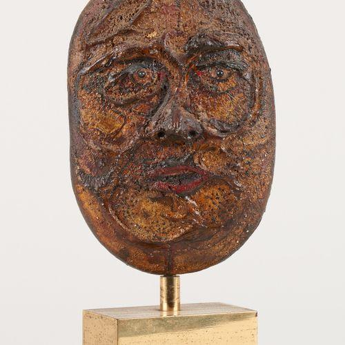Octave LANDUYT École belge (1922) Sculpture en terre cuite: Visage.  Signée: O. …