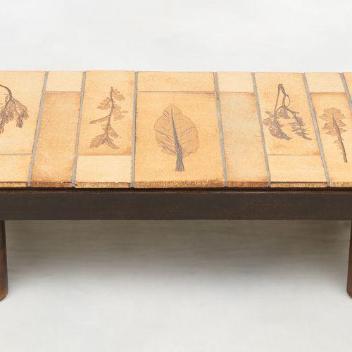 Roger CAPRON École française (1922 2006) Meuble: Table basse au plateau rectangu…