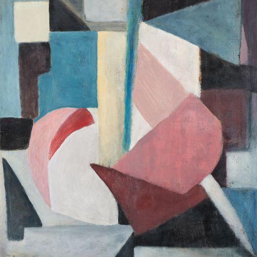 Jean BOQUET École belge (1906 1976) Huile sur toile: Composition  Signée: J. Boq…