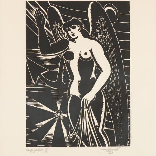 Frans MASEREEL École belge (1889 1972) Estampe, gravure sur bois en noir et blan…