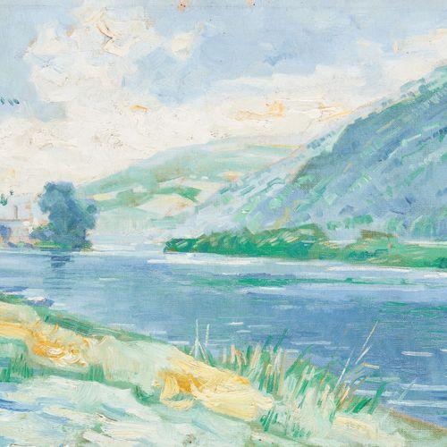 Frans GAILLIARD École belge (1861 1932) Huile sur toile (rentoilée): Cours d'eau…