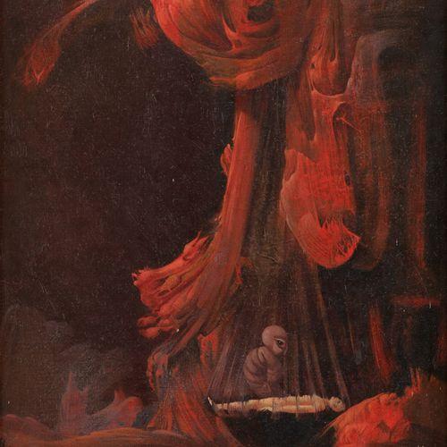 Eugène SAMAIN École belge (1935) Huile sur toile marouflée sur panneau: Naissanc…