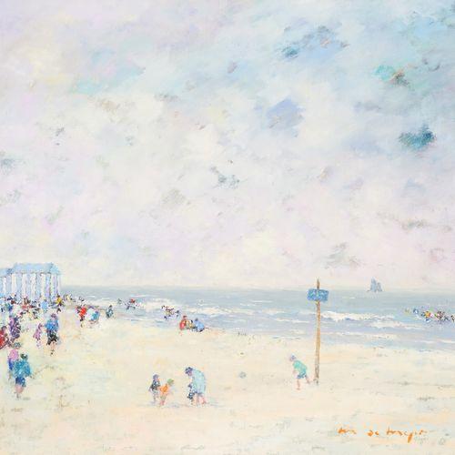 Maurice DE MEYER École belge (1911 1999) 布面油画:七月的北海。  签名:M. De Meyer。  尺寸:75 x 8…