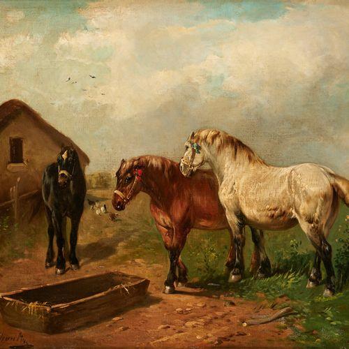 Paul et Henry SCHOUTEN (École belge 19 20e) Huile sur toile marouflée sur pannea…