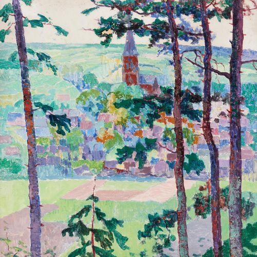 """Léon LONDOT École belge (1878 1953) Huile sur carton: """"Tourneppe"""".  Signée: L. L…"""