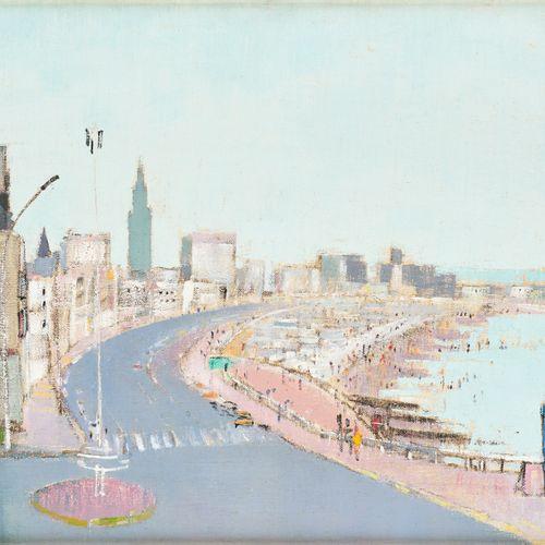 Raymond COUMANS École française (1922 2001) 布面油画:勒阿弗尔。  签名:库曼斯。  尺寸:38 x 61厘米。