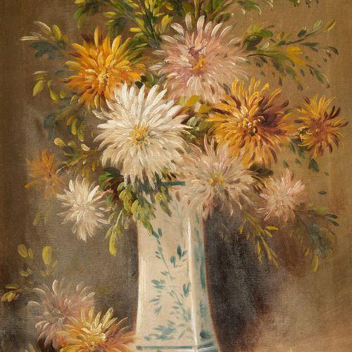 Henry SCHOUTEN École belge (1857/64 1927) Huile sur toile: Vase fleuri.  Signée:…