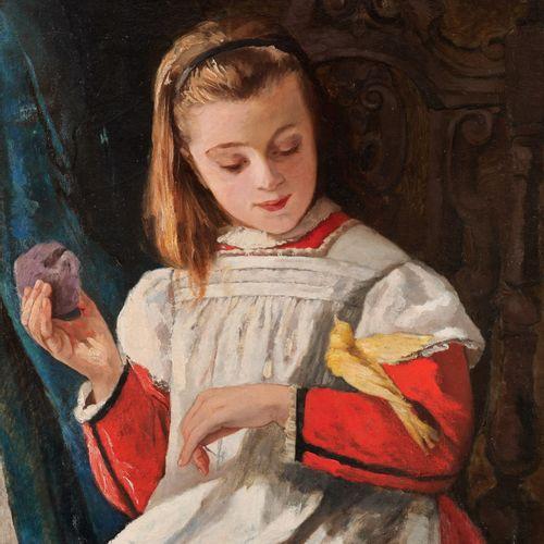 Camille VAN CAMP École belge (1834 1891) Huile sur toile (rentoilée): Jeune fill…