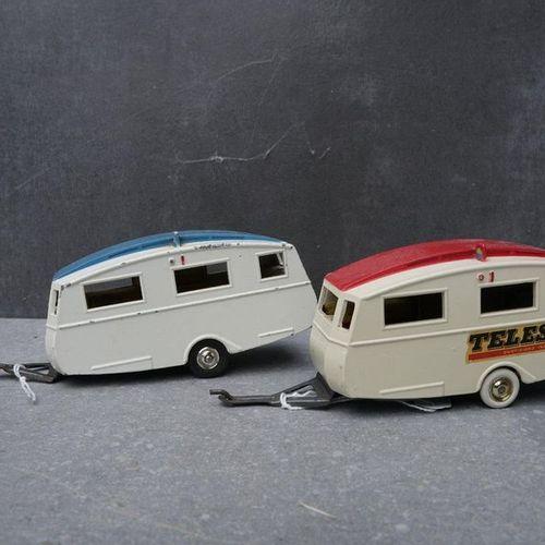 CIJ : Compagnie Industrielle du jouet CIJ : Ensemble de 2 caravanes Nottin Cotta…