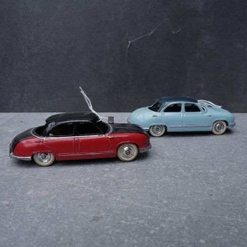 CIJ : Compagnie Industrielle du jouet CIJ : Lot de 2 Panhard Dyna Z 1954