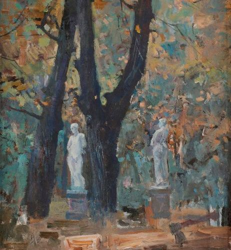 Guenadi Iossifovich MANACHERO V (b. 194 7 )The Summer Garden, view from Leningra…