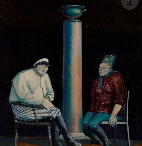 Dmitry Askoldovich KANTOROV (b. 1958 )Night Conversation , 1989Oil on canvas. Si…