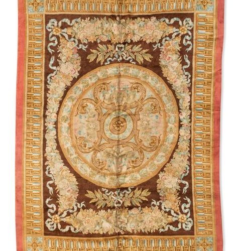 Beautiful knotted stitch carpet, the central medallion with geometric decoration…