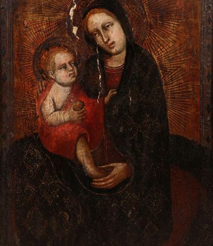 MASTER OF RONCAIETTE (known in Padua, around 1420) Virgin of humility with the C…