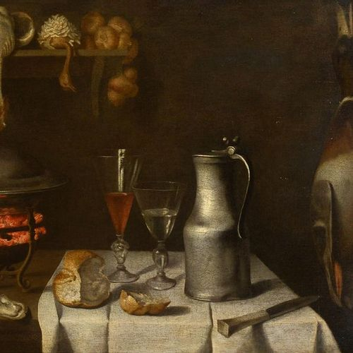 Attributed to Albrecht KAUW (1621 1681) Still life with pewter pitcher, glass of…