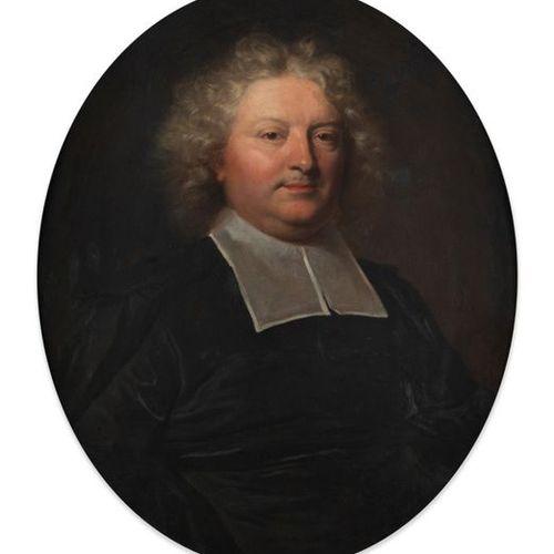 Hyacinthe RIGAUD (Perpignan 1659 Paris 1743) Portrait d'un abbé Toile ovale 72 x…