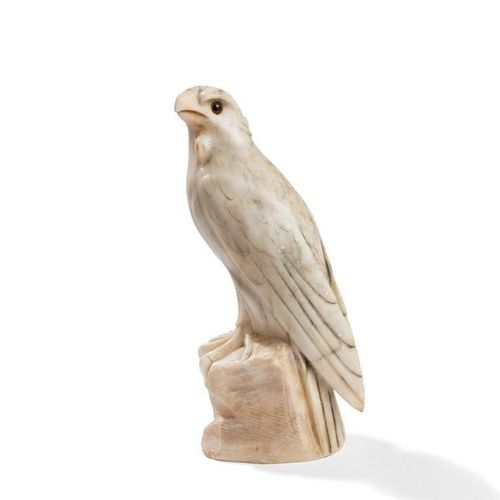 JULES EDMOND MASSON (1871 1932 )EagleSculpture . Direct cut alabaster print; the…