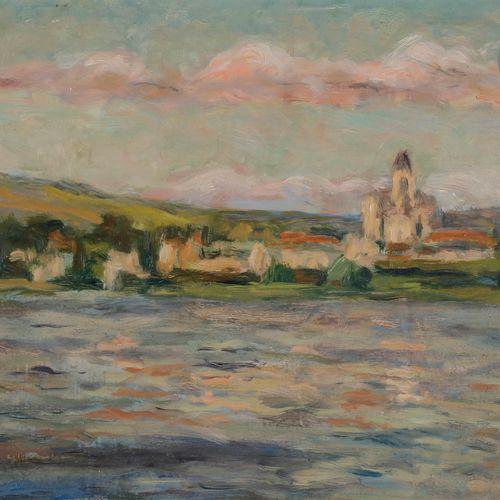 Maximilien LUCE (1858 1941) Riverside village Oil on isorel. Signed lower left. …