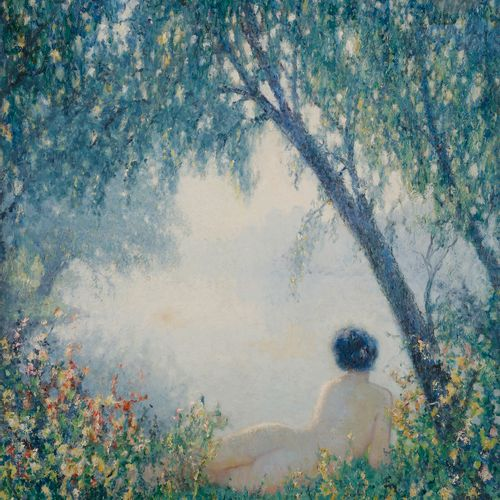 Raymond THIBÉSART (1874 1968) Vaporous Morning, 1922 Oil on canvas. Signed lower…