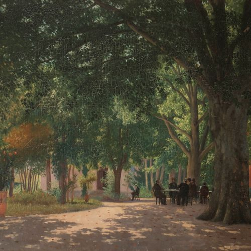 Joseph CONTINI (1827 c.1900) The Reading under the Trees, 1889 Oil on canvas. Si…