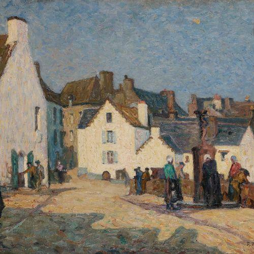 Raymond THIBÉSART (1874 1968) Douarnenez animated, 1910 Oil on canvas. Signed an…