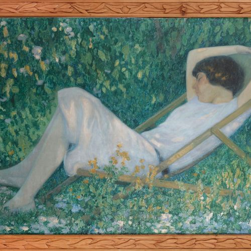 Raymond THIBÉSART (1874 1968) Tranquillity, 1926 Oil on canvas. Signed lower rig…